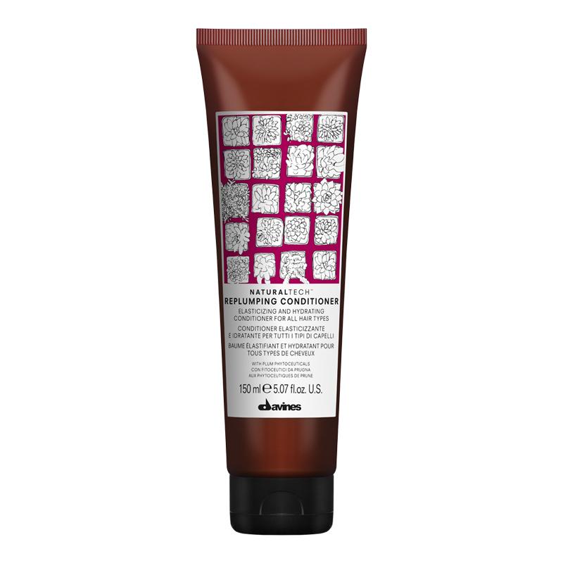 Naturaltech™ Replumping Shampoo and Conditioner เติมเต็มความสมบูรณ์และเพิ่มความยืดหยุ่นให้กับเส้นผม ด้วยส่วนผสมสกัดจากผลพลัม อุดมไปด้วยสารโพลีฟีนอลและฟลาโวนอยด์ ช่วยต่อต้านอนุมูลอิสระ จาก Davines