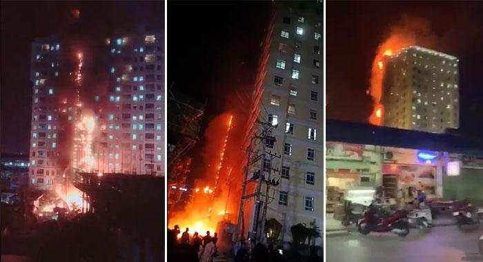 ไฟไหม้รุนแรงกาสิโนปอยเปต คนติดอยู่ในอาคารจำนวนมาก