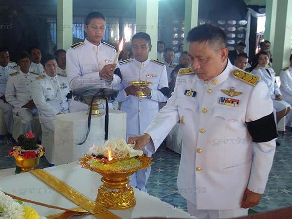 ผวจ.ปัตตานีประกอบพิธีพระราชทานศพลูกเรือประมงเสียชีวิตจากพายุปาบึก