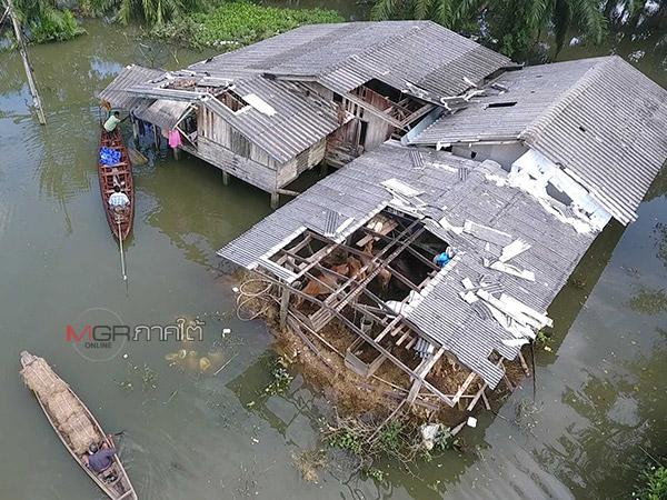 พบพื้นที่น้ำท่วมสูงซ้ำพิษพายุใน อ.เฉลิมพระเกียรติ ไฟฟ้ายังใช้การไม่ได้-น้ำดื่มเริ่มขาดแคลน