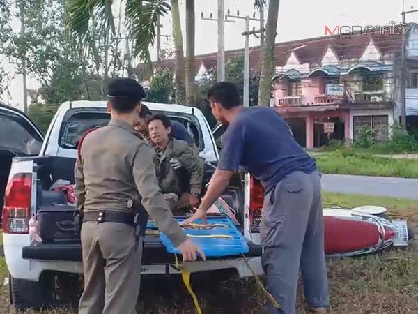 หวิดสลด! กระบะพาครอบครัวเยี่ยมญาติ เสียหลักชนต้นไม้เกาะกลางถนนพัทลุงเจ็บเพียบ
