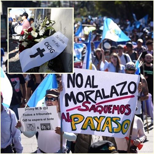 """In Pics: กัวเตมาลาหลายพันเดินขบวนประท้วง """"รัฐบาลโมราเลส"""" ปิดหน่วยงานต่อต้านคอร์รัปชันยูเอ็น"""
