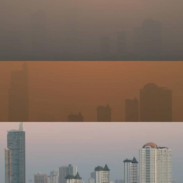 ยังหนัก! สภาพอากาศกรุงเทพฯ ค่าฝุ่นละออง PM2.5 เกินมาตรฐาน ชาวเน็ตถาม รัฐบาลทำอะไรอยู่