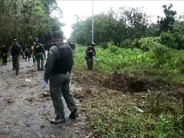 โจรใต้ซุ่มจุดชนวนทำร้ายทหารพรานเจ็บ 5 ที่นราธิวาส พบเป็นการระเบิดซ้ำ 2 รอบ