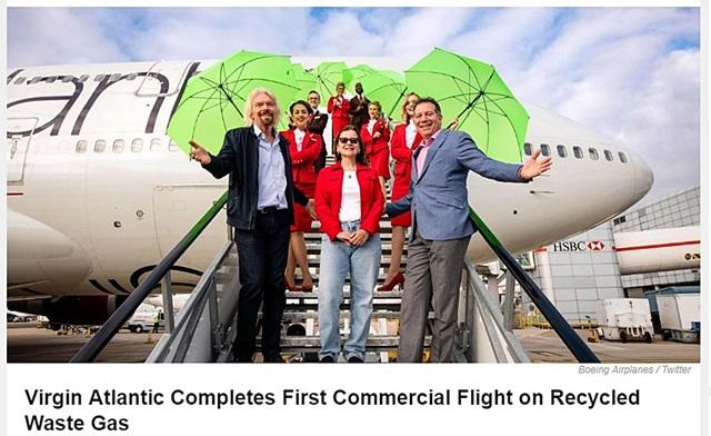 """เที่ยวบินพาณิชย์เที่ยวบินแรกของโลก """"ใช้เชื้อเพลิงอากาศยานผสมพลังงานทดแทน"""""""