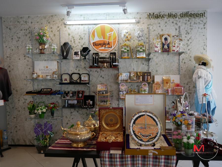 """ร้าน """"พรรณรายนครา"""" ศูนย์แสดงสินค้าผลิตภัณฑ์กรุงเทพมหานคร (Bangkok brand)"""