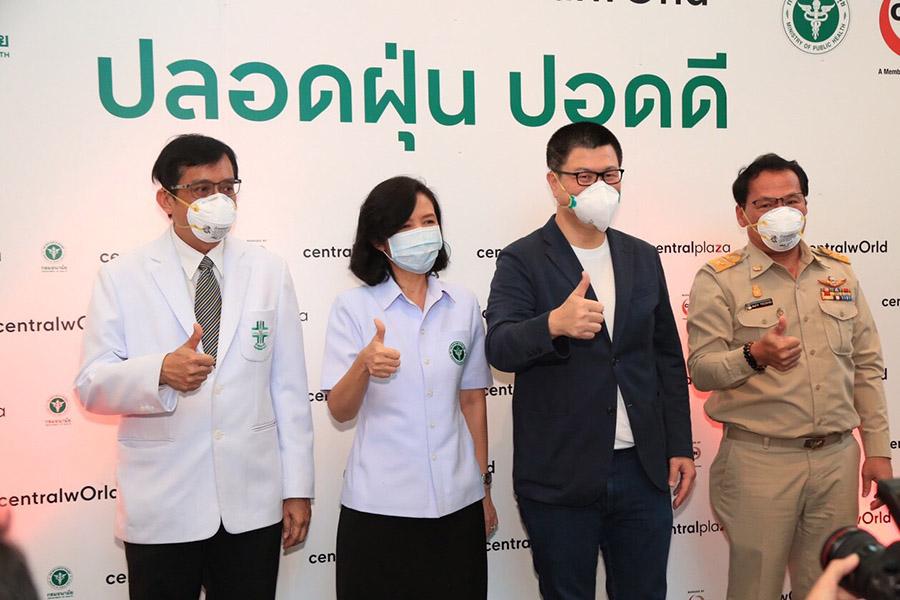 กรมอนามัย ร่วม กทม.-เซ็นทรัล ให้ความรู้ป้องกันฝุ่น PM2.5 ในห้าง 8 สาขา