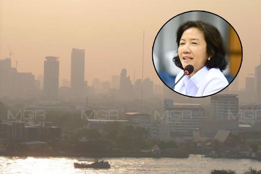 """แจงมาตรการ """"ห้ามใช้รถส่วนตัว"""" แก้ฝุ่น PM2.5 เป็นอำนาจนายกฯ ค่าต้องเกิน 90 นาน 3 วัน กินพื้นที่ครึ่งหนึ่ง กทม."""