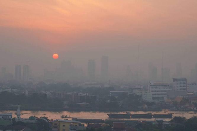 เช้านี้ฝุ่น PM2.5 ในกรุงเทพฯและปริมณฑล 12 พื้นที่ เริ่มมีผลกระทบต่อสุขภาพ