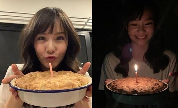 """หวานทั้งโซเชียล!! """"อาเล็ก"""" เข้าครัวทำเค้กให้ """"เต้ย"""" ฉลองวันเกิด 29 ปี"""