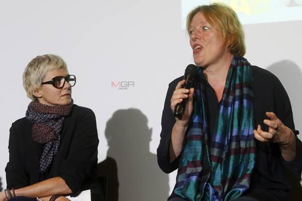 คุณ Vanessa Silvy ผู้ช่วยทูตฝ่ายวัฒนธรรม สถานทูตฝรั่งเศสประจำประเทศไทย และ คุณ Maren Niemeyer ผู้อำนวยการสถาบันเกอเธ่ประจำประเทศไทย
