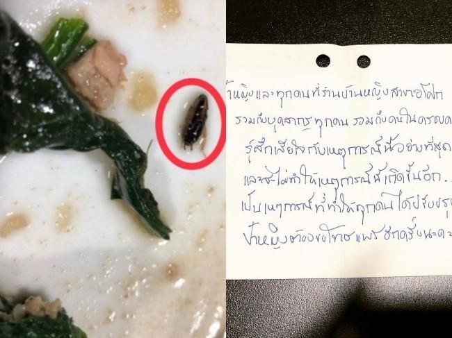 """""""บ้านหญิง"""" ส่งจดหมายขอโทษ """"แพร วทานิกา"""" บอกจะปรับปรุงหลังเจอแมลงสาบในอาหาร"""