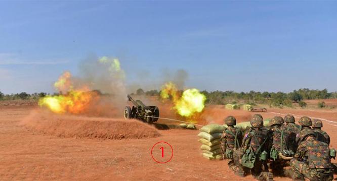 """พม่าเปิดฉากซ้อมรบใหญ่ """"ศึกบุเรงนอง"""" ระดม Mig-29 รถถังปืนใหญ่ถล่ม """"ผู้รุกราน"""""""