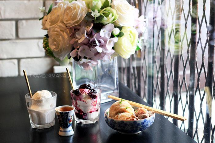 ไอศกรีมโฮมเมดที่ร้าน JingJing Ice-cream Bar and Cafe