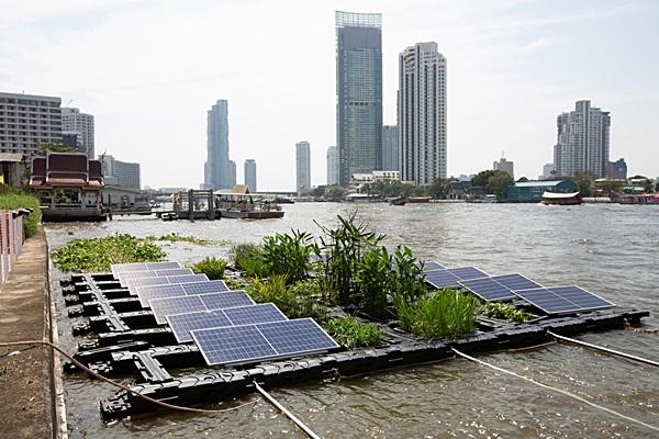 """""""Innovative Floating Park"""" ต้นแบบสวนบนโซลาร์ฟาร์มลอยน้ำ เพิ่มพื้นที่สีเขียว"""