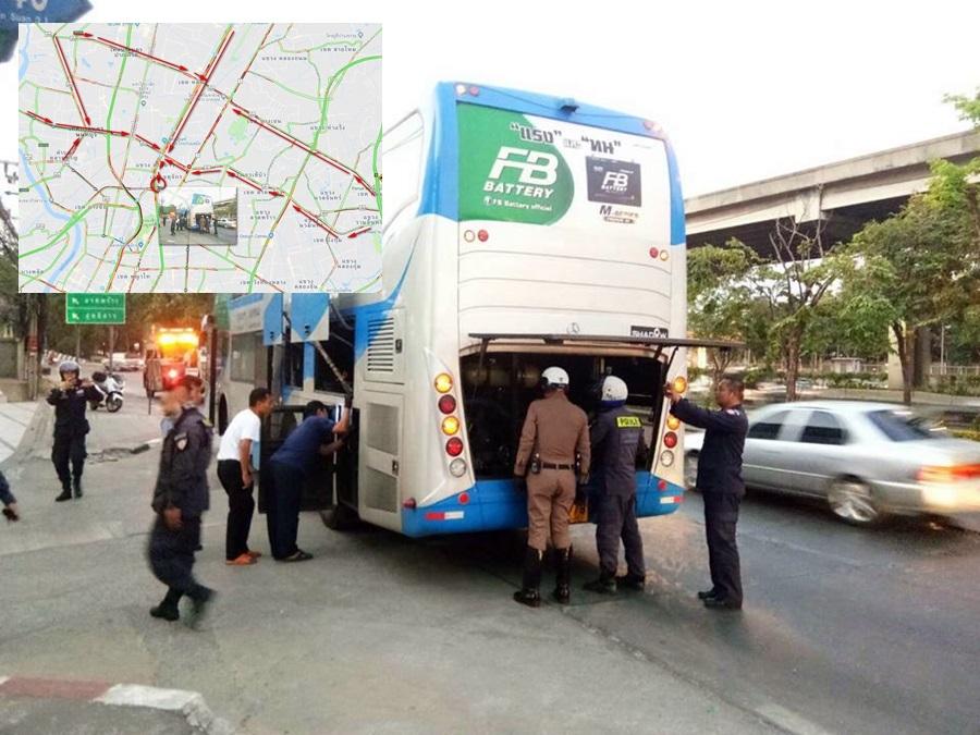 ติดสะสม! เหตุรถทัวร์เสียกลางทางขึ้นรัชวิภา ทำถนน 8 เส้นทางติดหนัก