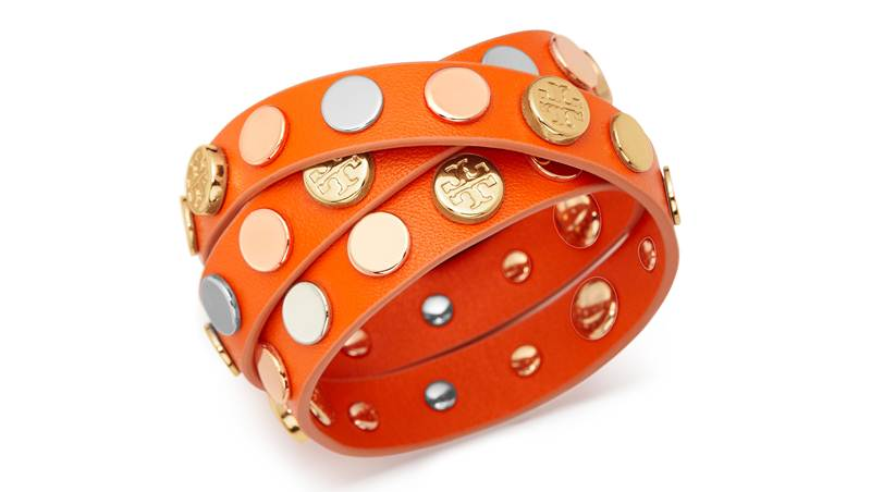 Logo Studded Triple Wrap Bracelet
