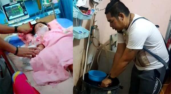 อุทาหรณ์! ลูกสาวตลก วัย 2 ขวบ หัวทิ่มถังน้ำอาการโคม่า รักษาตัวอยู่ในห้องไอซียู
