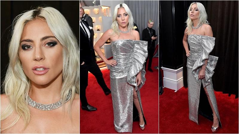 Lady Gaga กับเดรสจาก Celine และเครื่องประดับจาก Tiffany & Co. Jewelry