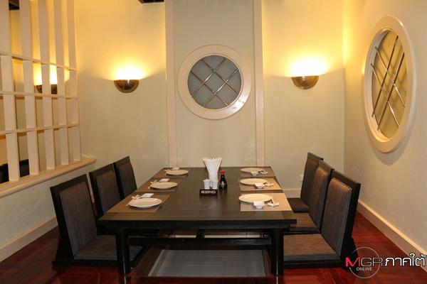 บรรยากาศภายในห้องอาหารยูริ โรงแรมป่าตอง รีสอร์ท