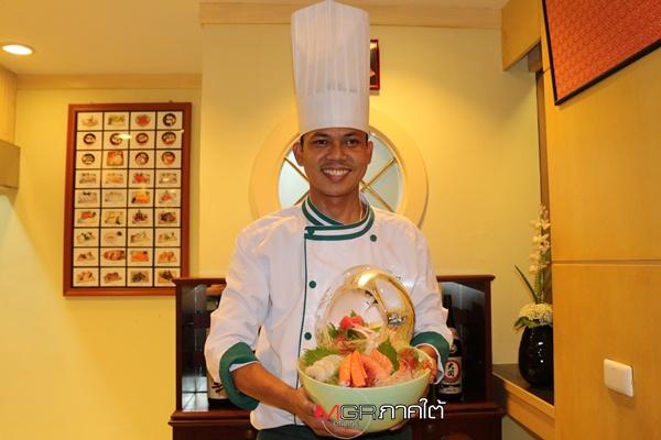 เชฟหนุ่ม ผู้มากประสบการณ์อาหารญีปุ่นของห้องอาหาร ยูริ