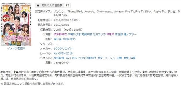 เว็บไซต์จำหน่ายผลงานใช้คำบรรยายภาษาจีน