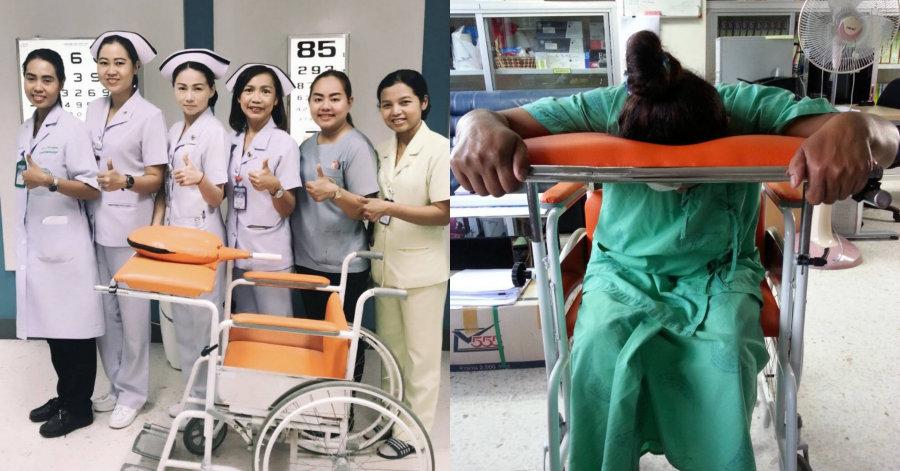 """รพ.วชิระภูเก็ต พัฒนานวัตกรรม """"เก้าอี้"""" ช่วยผู้ป่วยผ่าตัดจอตาหลุดลอกอยู่ในท่า ลดภาวะแทรกซ้อน"""
