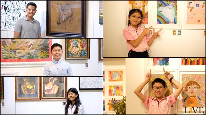"""[""""นิทรรศการแสดงผลงานศิลปะของนักเรียน อาจารย์ และบุคลากร ครั้งที่ 8 : 60 ปี สาธิตจุฬาฯ"""" ซึ่งจะจัดขึ้นที่หอศิลป์จามจุรี จุฬาลงกรณ์มหาวิทยาลัย ไปจนถึงวันอาทิตย์ที่ 24 ก.พ.นี้]"""