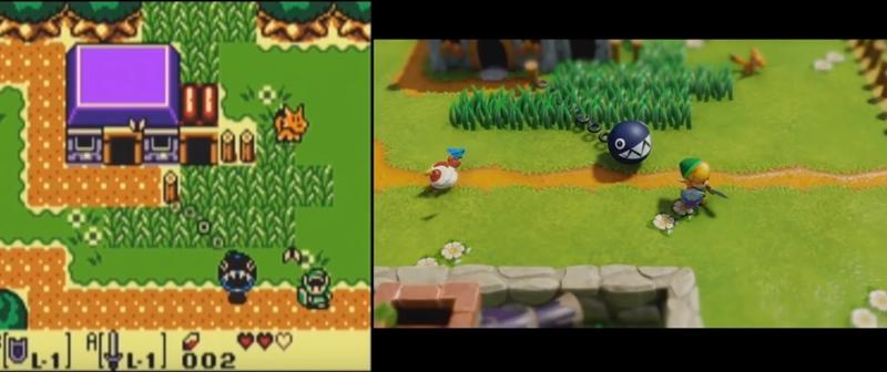 """หมัดต่อหมัด! ประชันกราฟิกรีเมค """"The Legend of Zelda"""" กับต้นฉบับเกมบอย"""