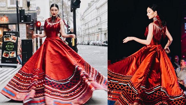 """สะกดชาวโลก """"แพนเค้ก"""" สวยเฉิดฉายนำผ้าไทยขึ้นรันเวย์  London Fashion Week 2019"""