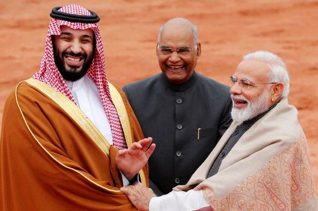"""อินเดียปูพรมแดงต้อนรับ """"มกุฎราชกุมารซาอุฯ"""" เล็งหาแนวร่วมต้านปากีฯ"""