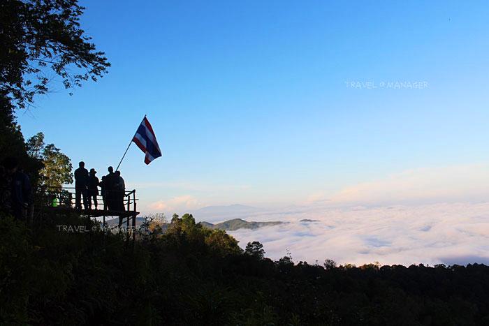 จุดถ่ายภาพกับธงชาติไทย