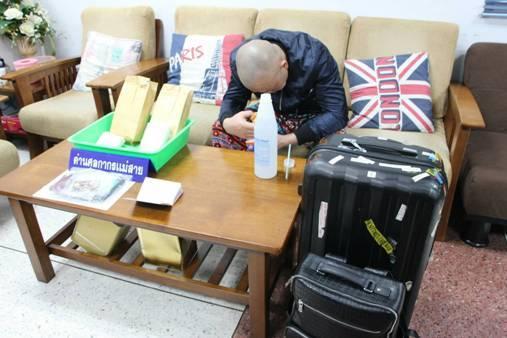 รวบคาสนามบิน!หนุ่มจีนขนยาเคจากคิงส์โรมัน จ่อนั่งเครื่องเชียงราย-กรุงเทพฯ-ฮานอย