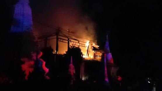 ไฟไหม้ศาลาการเปรียญเก่าวัดบางขุนเทียนนอก