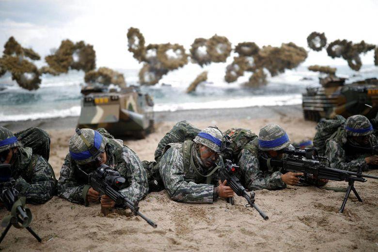 แหล่งข่าวเผย 'สหรัฐฯ-เกาหลีใต้' มีแผนยกเลิกซ้อมรบ 'โฟลอีเกิล' เพื่อสานต่อปลดนุก