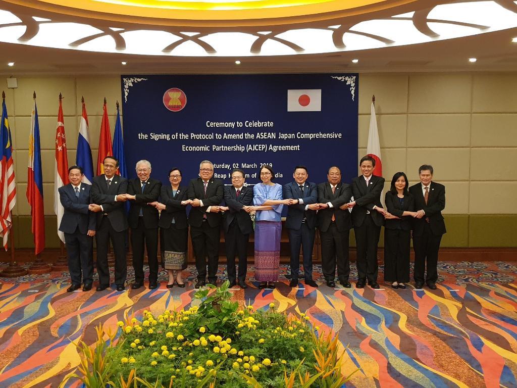 ไทย-อาเซียนลงนามพิธีสารแก้ไขความตกลง AJCEP เพิ่มการเปิดตลาดบริการ การลงทุน