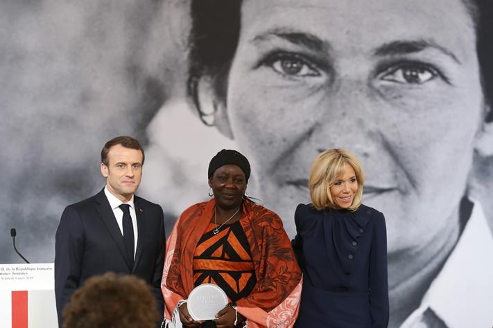 ประธานาธิบดี เอ็มมานุเอล มาครง ในวันสตรีสากลที่ฝรั่งเศส