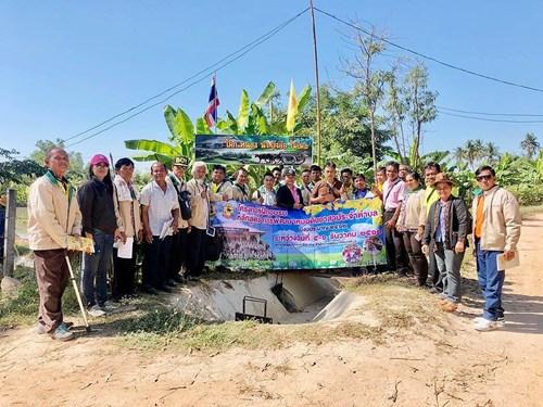 การจัดระบบน้ำสนับสนุนการเกษตรกรรมตามปรัชญาเศรษฐกิจพอเพียง ในพื้นที่เขื่อนปะอาว PR3 อ.เขื่องใน จ.อุบลราชธานี