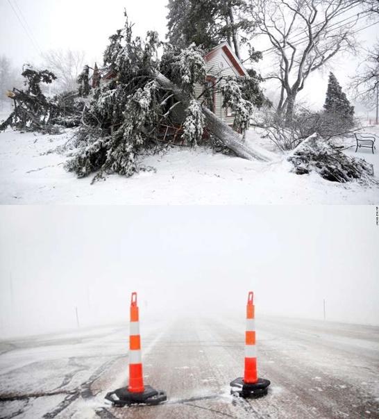 """In Clips: """"พายุระเบิดไซโคลน"""" เข้าสหรัฐฯ ยกเลิกไปแล้วเกือบ 3,100 เที่ยวบิน หิมะตกหนัก-น้ำท่วม กว่าแสนอยู่ไม่มีไฟฟ้าใช้"""