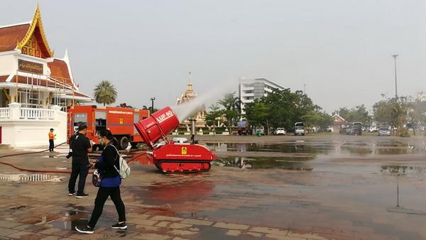 น่าห่วง! ค่าฝุ่นจิ๋วเมืองอุดรฯพุ่งถึงขีดแดง  แนะสวมหน้ากากอนามัยเมื่ออยู่กลางแจ้ง
