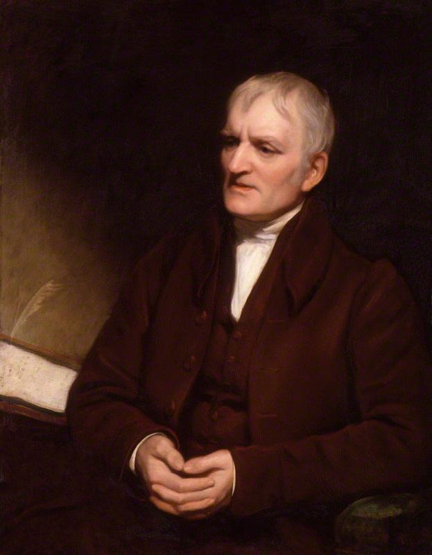 ภาพเหมือน John Dalton โดย Thomas Phillips ในช่วงปลายของชีวิต
