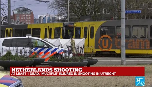 "In Pics&Clips: ด่วน!! เกิดเหตุกราดยิงบน ""รถรางแทรมเนเธอร์แลนด์"" มีบาดเจ็บ  ดับ 1 ยังจับมือปืนไม่ได้  เป็นก่อการร้าย"""