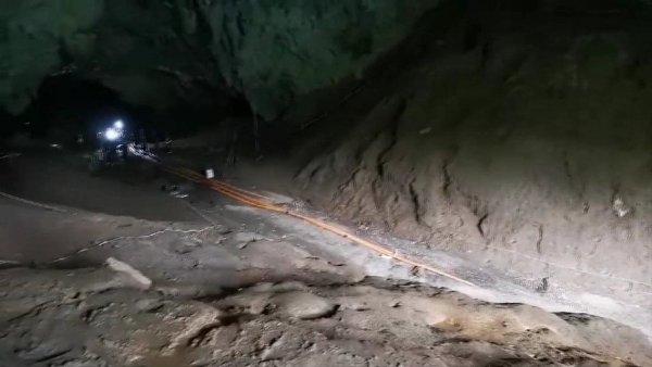 ภาพจากแฟ้ม-สภาพภายในถ้ำหลวง ขณะที่เจ้าหน้าที่เข้าสำรวจก่อนหน้านี้
