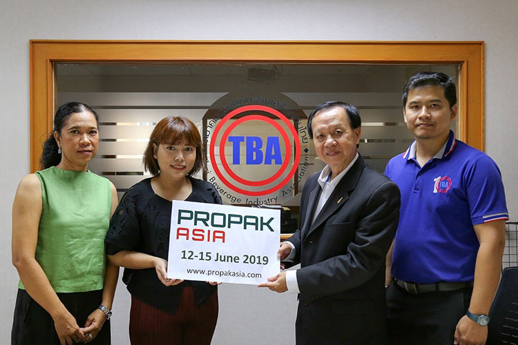สมาคมอุตสาหกรรมเครื่องดื่มไทย ยืนยันร่วมงาน โพรแพ็ค เอเชีย 2019