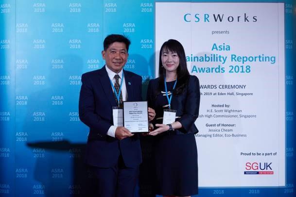 บางจากฯ คว้า 2 รางวัลด้านรายงานความยั่งยืน ในงาน ASRA 2018