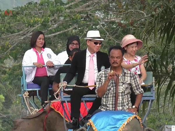 """""""พลังชาติไทย"""" ขนทีมงานนั่งช้างปิดปราศรัยใหญ่ที่ตรัง เชื่อกลุ่มพลังเงียบเทคะแนนให้"""