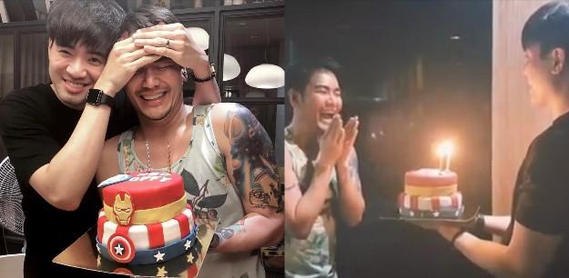 """9 ชั่วโมง เพื่อคนที่รัก! """"ไฮโซภูมิ"""" เข้าครัวทำเค้ก เซอร์ไพรส์วันเกิด """"อ๊อฟ ปองศักดิ์"""" ครบ 34 ปี"""