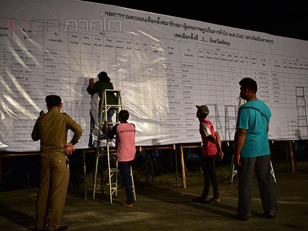 สำเร็จ! พรรคภูมิใจไทยโค่นเสาไฟฟ้าเก่า คะแนนนำโด่ง 2 เขตเลือกตั้งที่พัทลุง