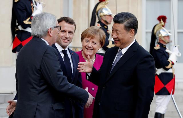 ฝรั่งเศสเปิดทำเนียบฯ หารือผู้นำอียู-จีน จับมือปรับสัมพันธ์คานอำนาจอเมริกา