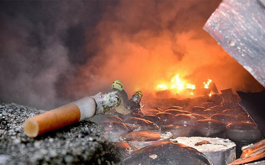 """จี้ สธ.ออกกฎคุมส่วนประกอบ """"บุหรี่"""" สูบไม่หมดดับเองใน 2 นาที ลดเหตุไฟไหม้ได้ 2 ใน 3"""